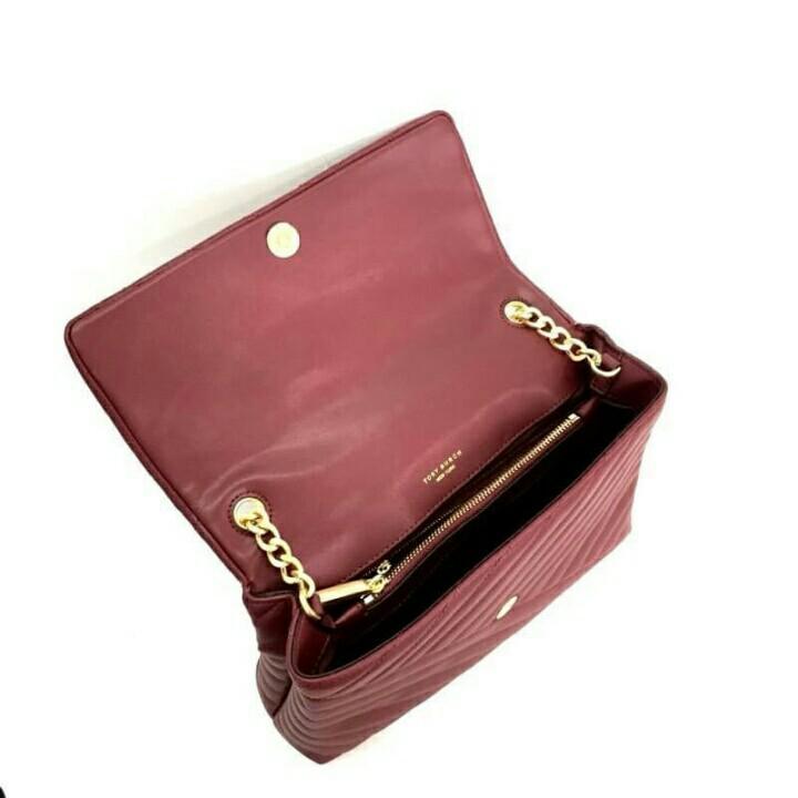 Tory Burch Kira Chevron Flap Shoulder Bag / Tas Tory Burch Kira Chevron Original Murah / Tas Branded