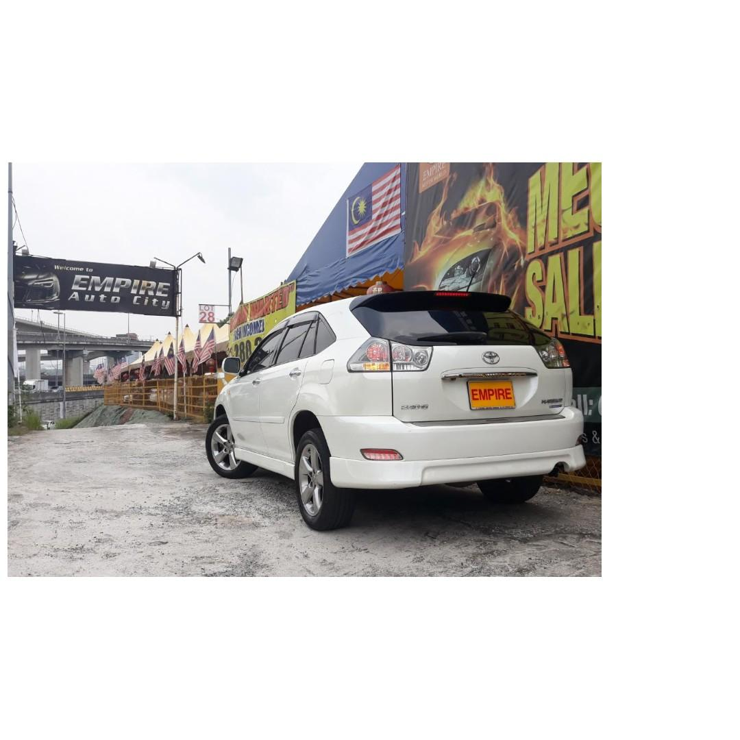 TOYOTA HARRIER 240G PREMIUM-L VVT-I !! FULL BODYKIT !! NEW FACELIFT !! PREMIUM FULL HIGH SPECS THAT COMES WITH HOME THEATER / POWER BOOT AND ETC !! ( X 9998 X ) 1 CAREFUL OWNER !!