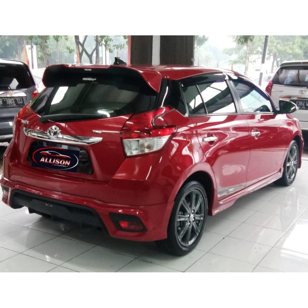 Toyota Yaris TRD Sportivo 2015 Merah Top Condition DP 26,9  Jt, No Pol Genap