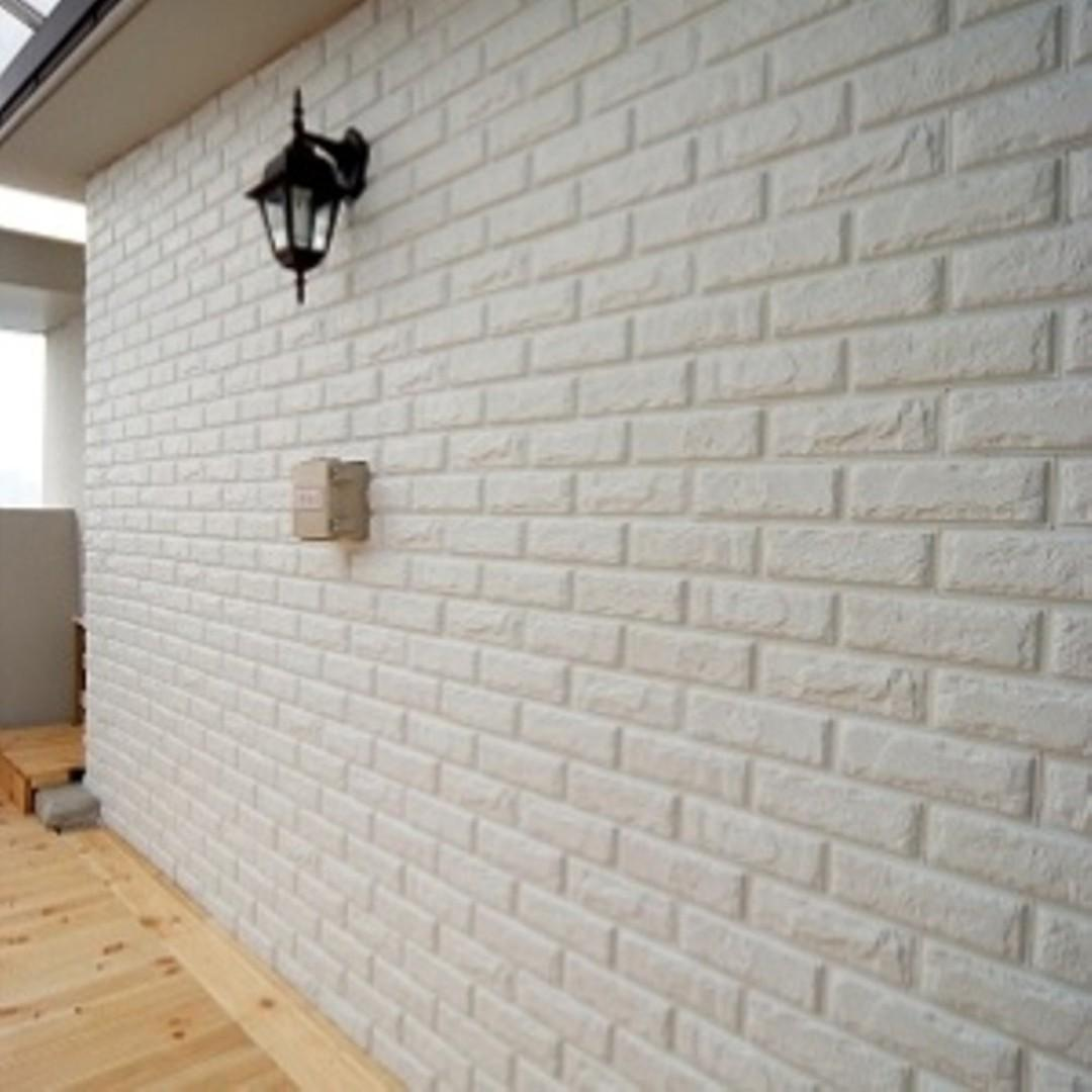 WALLPAPER 3D FOAM BRICK BATA WHITE Home & Furniture On