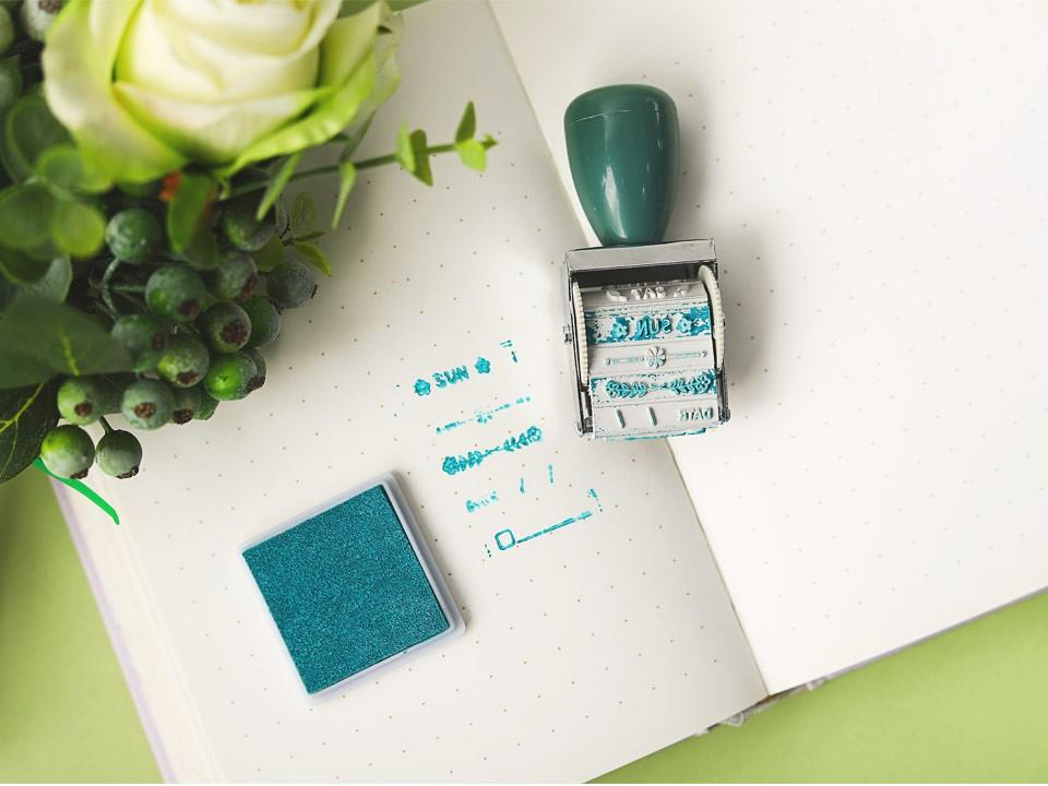 Warm Life Deco Label Stamp With Inkpad