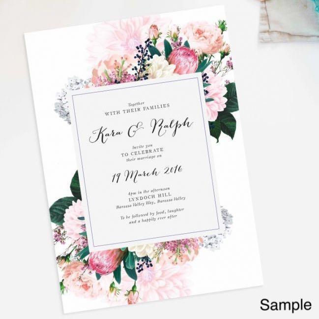 Wedding Invitation Cards Design Craft Art Prints On