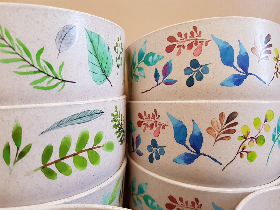 (BN) Wheat Fibre Bowls (Eco-Friendly) (Fruit Tree Fresh)