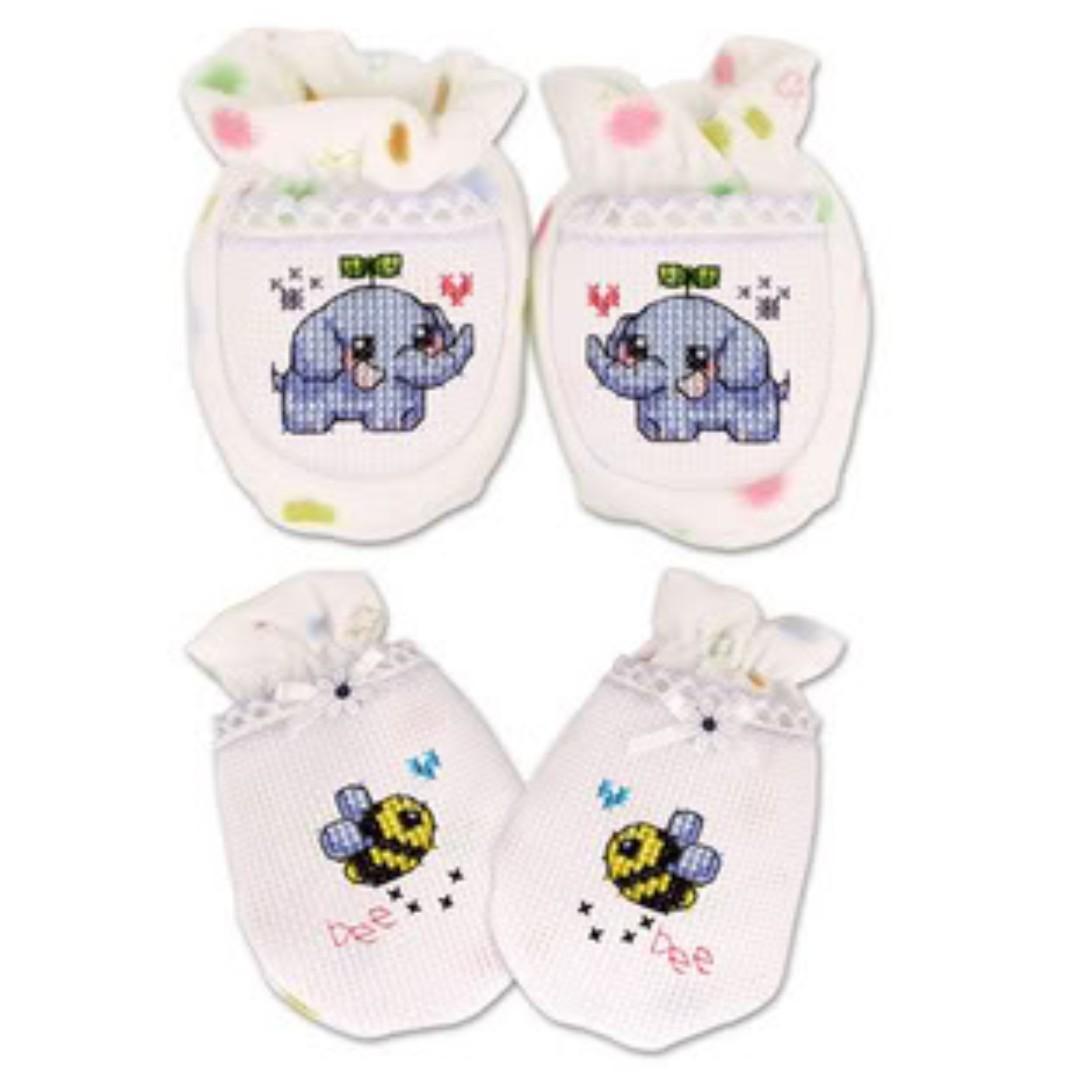 韓國Yediam十字繡嬰兒BB手套腳 香港加油