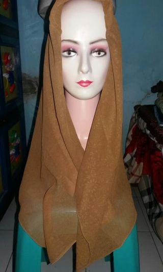 Hijab Segi 4 Brown