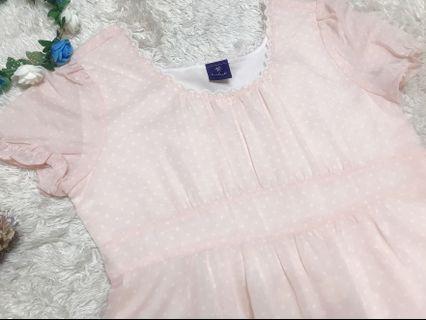 b .club 粉紅短袖洋裝