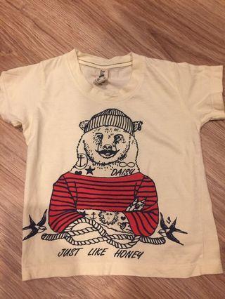 🚚 泰國有機棉水手熊小男童短袖T恤 gap Zara H&M unoqlo beams Mickey Mouse akachan 阿卡將