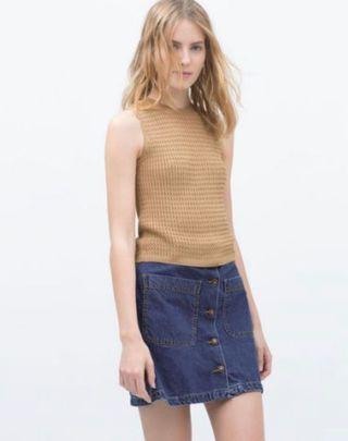 Brand new Zara cable knit crop top in beige sized S
