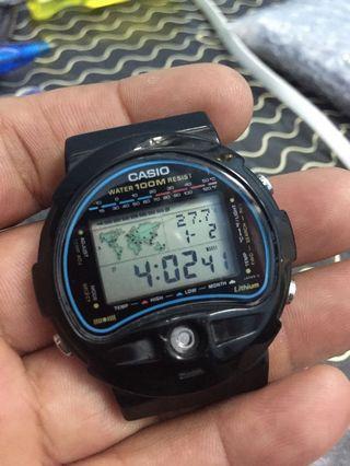 Casio VTG check suhu worldtime