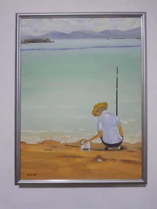 """BN """"Solitude"""" Original Handpainted Oil Painting by Local Artist"""