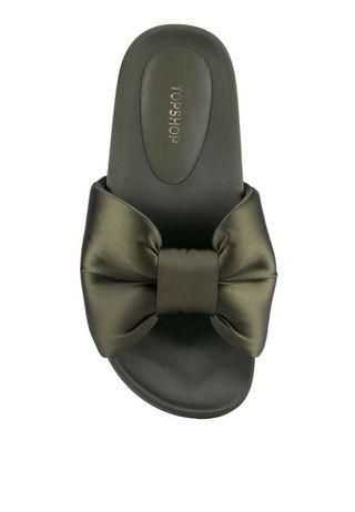 Topshop Heart Bow Sliders