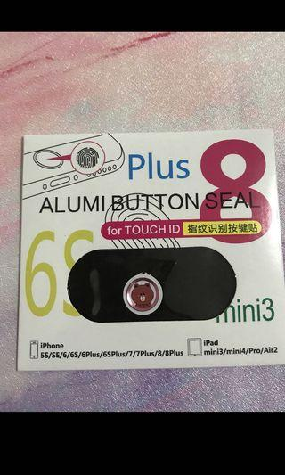 iPhone button seal 熊大 brown 按鈕貼