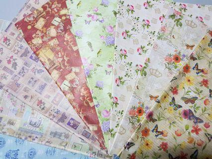 Wrapping Paper ↪ Floral/ Geometric Print  💱 $0.80 Each Sheet/ $6.00 for 10 Sheets