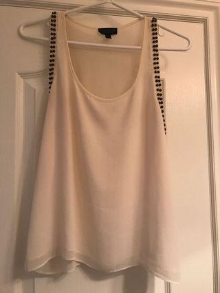 Topshop Studded Tank Size 4