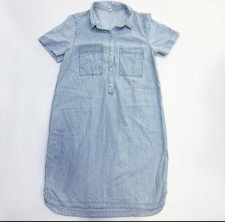 NEW Denim Midi Dress by Old Navy