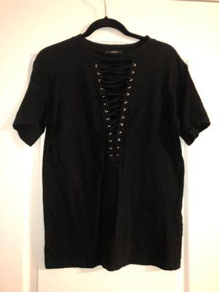 Forever 21 Lace up T-shirt XS