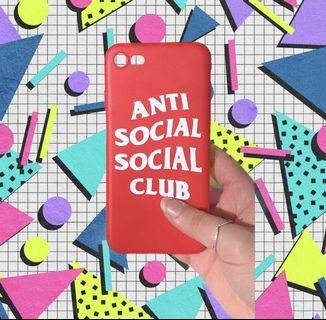 Anti social social club iphone case