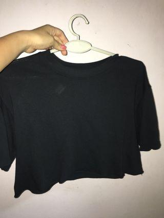 Topshop Washed Cropped T-shirt