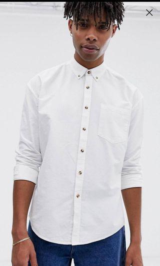 COLLUSION 白色襯衫