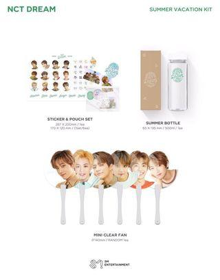 (wtb) nct dream summer vacation kit mini handfan