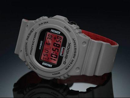 New Authentic Casio G-Shock Sneaker Freaker Collabration DW-5700SF-1 Watch limited edition with warranty