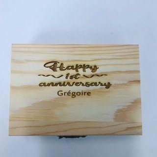 Personalized Wooden box of whiskey stones
