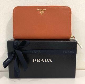Authentic New Prada Saffiano Long Wallet