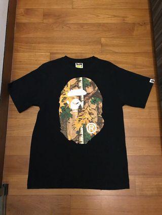🚚 Bape forest camo tee size M ( black bathing ape jungle )