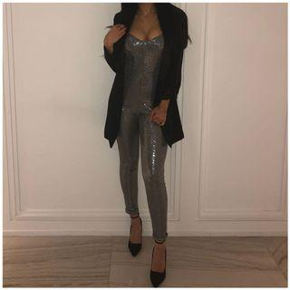 Stretchy metallic sparkly jumpsuit for sale