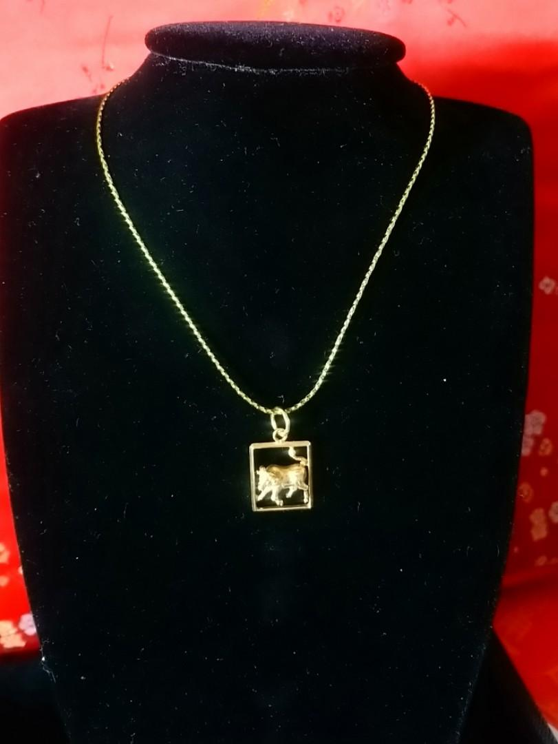 0386#18k pendant (without chain)