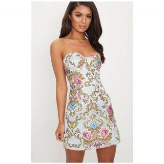 Brand new embroidered dress baroque