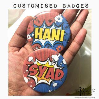 🚚 Customised Pin Badge