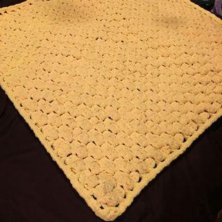 Handmade! Yellow Crochet blanket