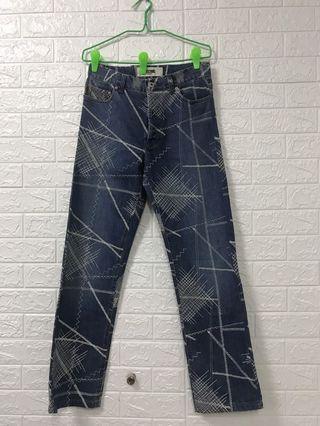 moschino stitch patern jeans