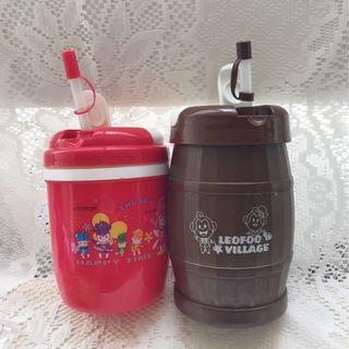 二手飲料隨行杯 1000cc 六福村 花博(2個一組)造型飲料杯