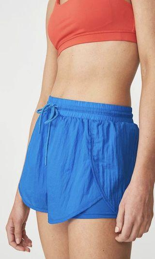 Cotton on women's exercise shorts - blue xs or 6
