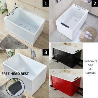 Customize Size & Colours Designer Bathtub Premium Bathroom Bathtub