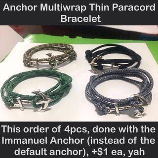 Anchor multiwrap thin paracord bracelet (thin (2.5-3mm); wrist size customisation) [gifts handmade; uncle anthony] FOR MORE PICTURES & DETAILS, GO HERE: 👉 http://carousell.com/p/108612508