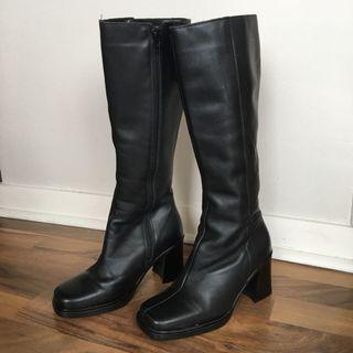 Vintage 90s Knee High Boots