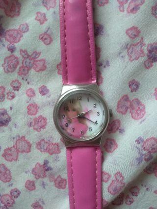 Jam Tangan Pink BARBIE ORI