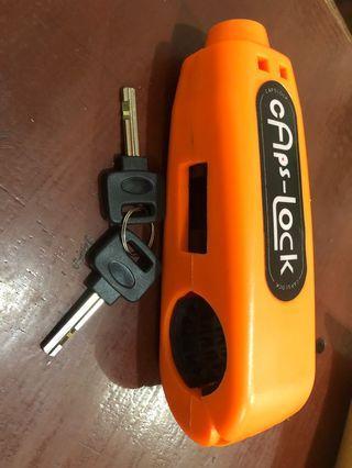 Kunci pengaman sepeda motor CAPSLOCK
