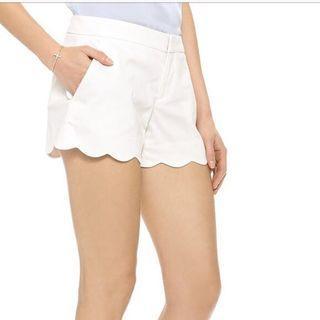 Club Monaco Amber Shorts with Scalloped Hem