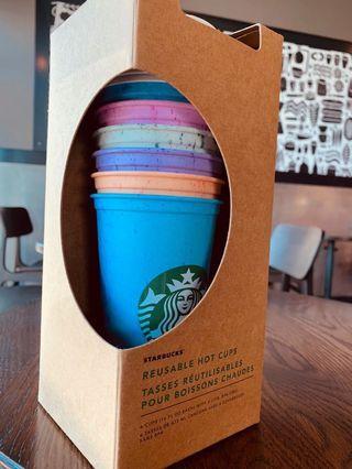 Starbucks 咖啡環保杯一組(六個色)