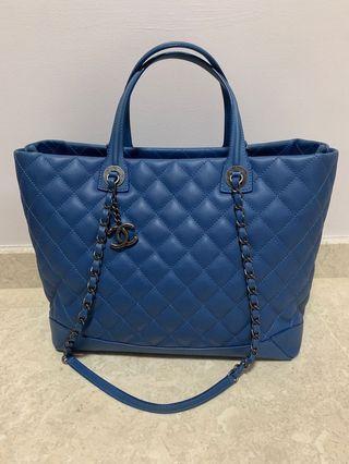 7af4ea9054d5 Chanel Blue Calfskin Large Tote Bag with Ruthenium HW
