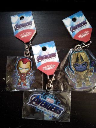 Hottoys Avengers cosbaby Keychain  hottoy 造型透明匙扣掛飾 (3款)