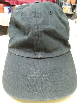型男全黑cap帽