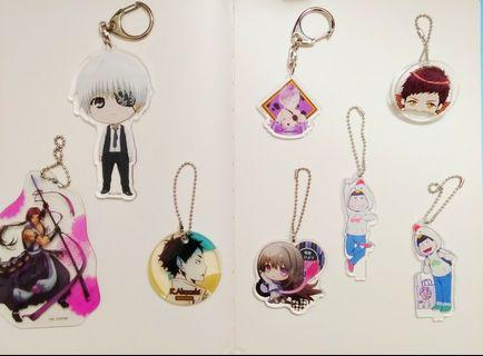 Mixed anime - Acrylic keychains