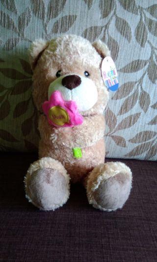 BNWT Mother's Day Teddy Bear with Flower @ #MRTRaffles