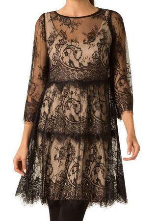 "BRAND NEW Leona Edmiston Black Lace Mini ""Sandy"" Dress Size 10 TAGS ON"