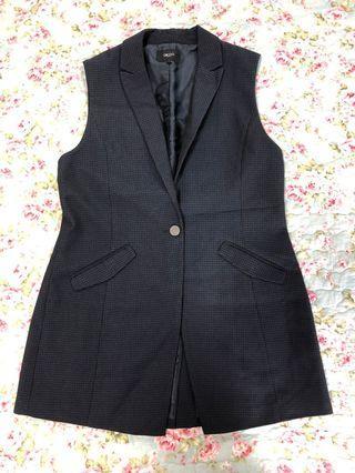 Navy Blue Long Line Vest